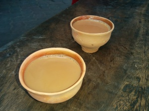 Tea by Road side on a kulhar(earthy mug)